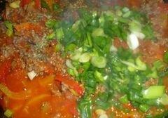 """«Спагетти """"Болоньезе"""" с перцем и кабачком» - приготовления блюда - шаг 7"""