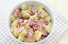 «Салат из картофеля без майонеза» - приготовления блюда - шаг 7