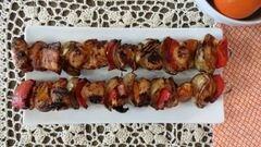 «Куриный шашлык с мандаринами и перцем» - приготовления блюда - шаг 5