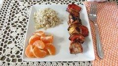 «Куриный шашлык с мандаринами и перцем» - приготовления блюда - шаг 9