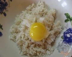 «Рисовый омлет с зеленым горошком» - приготовления блюда - шаг 2