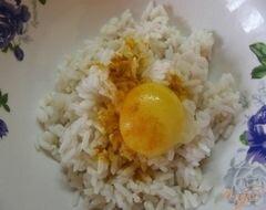 «Рисовый омлет с зеленым горошком» - приготовления блюда - шаг 3