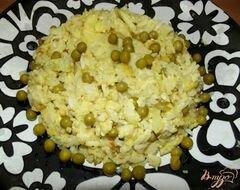 «Рисовый омлет с зеленым горошком» - приготовления блюда - шаг 7
