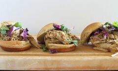 «Мексиканский гамбургер со свининой» - приготовления блюда - шаг 6