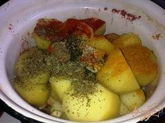 «Запеченная, пряная картошка» - приготовления блюда - шаг 1