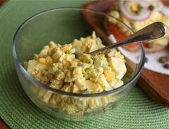 «Яичный салат с каперсами» - приготовления блюда - шаг 1