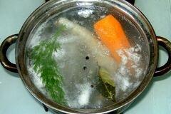 «Заливное из рыбы с креветками» - приготовления блюда - шаг 1