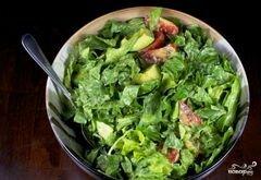 «Зеленый салат с помидорами и авокадо» - приготовления блюда - шаг 11