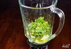 «Зеленый салат с помидорами и авокадо» - приготовления блюда - шаг 3
