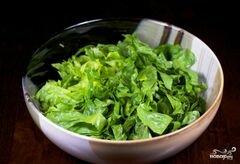 «Зеленый салат с помидорами и авокадо» - приготовления блюда - шаг 7