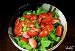 «Зеленый салат с помидорами и авокадо» - приготовления блюда - шаг 8