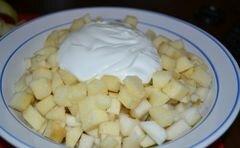 «Фруктовый белый салат» - приготовления блюда - шаг 4