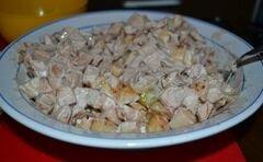 «Фруктовый белый салат» - приготовления блюда - шаг 5