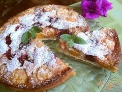 «Пирог с франжипаном и фруктами» - приготовления блюда - шаг 11