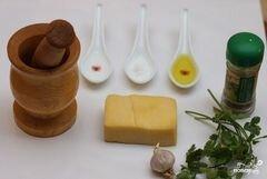 «Чесночный сыр» - приготовления блюда - шаг 1