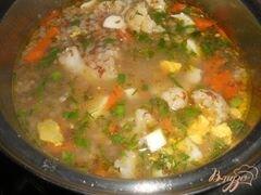 «Гречневый суп с цветной капустой и яйцом без картофеля» - приготовления блюда - шаг 3