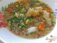«Гречневый суп с цветной капустой и яйцом без картофеля» - приготовления блюда - шаг 4