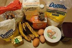 «Банановые кексы с ганашем и кремом» - приготовления блюда - шаг 1