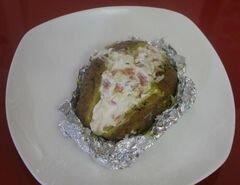 «Картофель с сырно-рыбной начинкой» - приготовления блюда - шаг 9