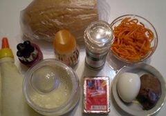 «Печеночная закуска на хлебных цветочках» - приготовления блюда - шаг 1