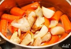 «Крем-суп из моркови» - приготовления блюда - шаг 4