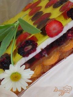 «Желейный торт с ягодами и шоколадной крошкой» - приготовления блюда - шаг 9
