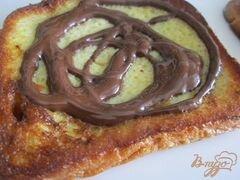 «Гренки с шоколадом и клубникой» - приготовления блюда - шаг 5