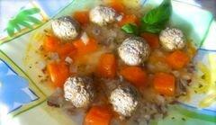 «Супчик с фрикадельками и тыквой» - приготовления блюда - шаг 6