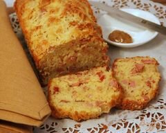 «Закусочный кекс с ветчиной, горчицей и сыром» - приготовления блюда - шаг 8