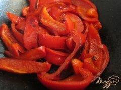 «Салат с куриным мясом и перцем» - приготовления блюда - шаг 4