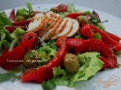 «Салат с куриным мясом и перцем» - приготовления блюда - шаг 9