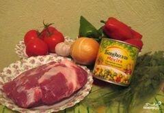 «Мясо по-мексикански» - приготовления блюда - шаг 1
