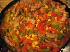 «Мясо по-мексикански» - приготовления блюда - шаг 7