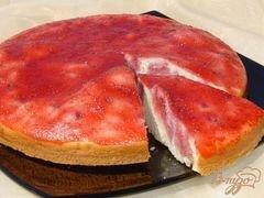 «Заливной клубничный пирог» - приготовления блюда - шаг 8
