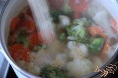 «Быстрый овощной суп с кус-кусом» - приготовления блюда - шаг 2