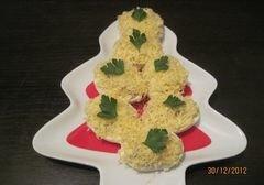 «Яйца фаршированные сыром и беконом» - приготовления блюда - шаг 3