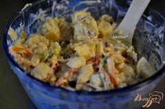 «Салат картофельный Аллилуйя» - приготовления блюда - шаг 2