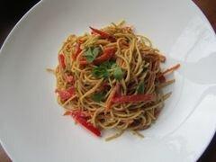 «Арахисовые спагетти с кунжутом» - приготовления блюда - шаг 11