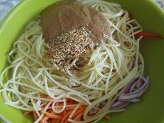 «Арахисовые спагетти с кунжутом» - приготовления блюда - шаг 7