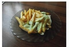 «Картошка фри в домашних условиях с соусом (сливочно-чесночным)» - приготовления блюда - шаг 5