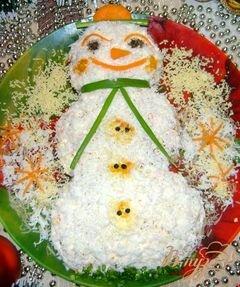 «Салат «Весёлый снеговик»» - приготовления блюда - шаг 10