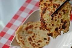 «Лепешки с зеленым луком» - приготовления блюда - шаг 5