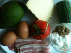 «Овощной салат с хрустящим беконом» - приготовления блюда - шаг 1