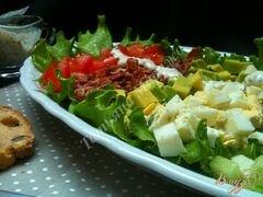 «Овощной салат с хрустящим беконом» - приготовления блюда - шаг 9