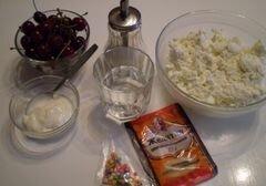 """«Десерт """"Вишенка в снегу""""» - приготовления блюда - шаг 1"""