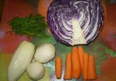 «Капуста с дайконом и морковью» - приготовления блюда - шаг 1