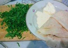 «Блинчики из лаваша с начинкой из шпината и брынзы» - приготовления блюда - шаг 1