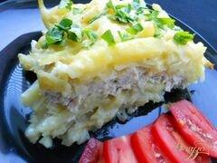 «Запеканка из сырого картофеля и куриного фарша» - приготовления блюда - шаг 5