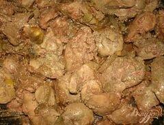 «Печень с яблоками и луком» - приготовления блюда - шаг 4