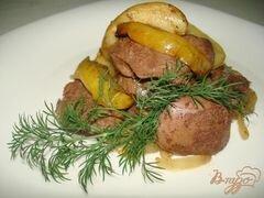 «Печень с яблоками и луком» - приготовления блюда - шаг 6
